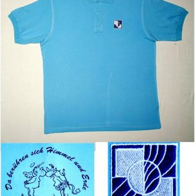 T-Shirt, hellblau (10 - 12,50 EUR)